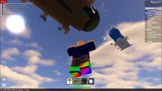 ROBLOX-How to fly in the game Zeppelin Battle
