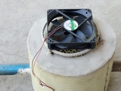 ROCKET STOVE WITH COMPUTER FAN ,MAKE IT EASY D.I.Y.