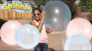 The Amazing Giant Wubble Bubble Ball Review and Play | B2cutecupcakes