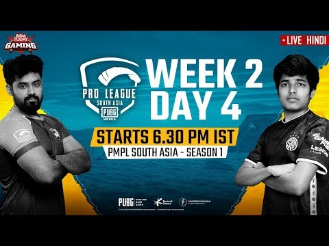 [Hindi] PMPL South Asia 2020 LIVE | PUBG Mobile Pro League 2020 LIVE STREAMING Week 2 Day 4