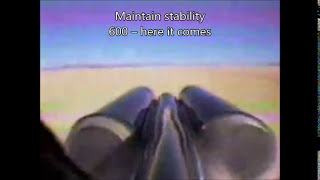 ThrustSSC run 61 (supersonic) tail view with subtitles and extra information