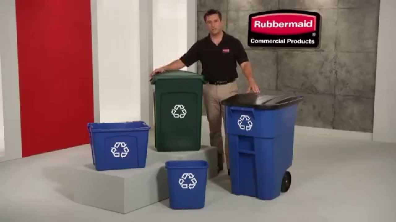 Rubbermaid contenedores de reciclaje youtube - Contenedores de reciclar ...