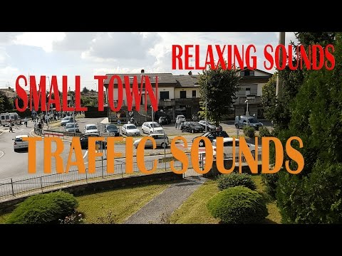 Small Town traffic noise ambient sound ASMR 47 minutes