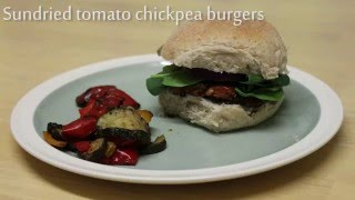 Vegan Sun-dried Tomato and Chickpea Burgers