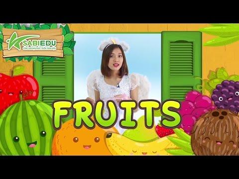 Dạy Tiếng Anh về TRÁI CÂY qua thẻ tiếng anh MA THUẬT – Magic English Flashcard Fruits