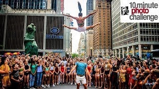 HUNDREDS OF DANCERS SHUT DOWN 6th AVE (Massive 10 Minute Photo Challenge)