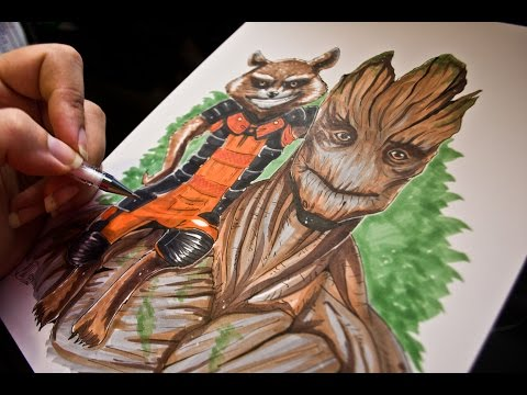 Guardians Of The Galaxy Copic Speedpaint Youtube