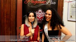 Sonyaa Ward Miss Mass United States - PageantLive NY with Lisa Opie