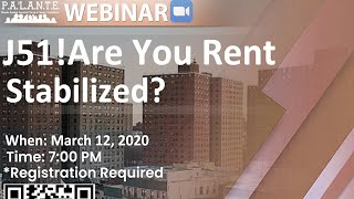 J51! Are You Rent Stabilized?