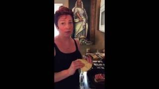 ham and brie flatbread sandwich- Emilee Shannon ep.2