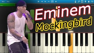 Eminem - Mockingbird [Piano Tutorial] Synthesia
