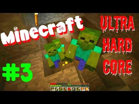 Minecraft Ultra Hard Core Survival (UHC) Ep3: Swiss Cheese Mountain
