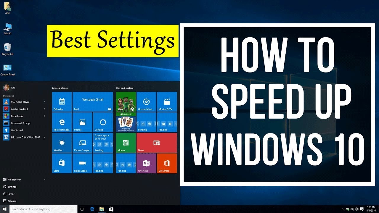 How To Easily Speed Up a Slow Windows 10 Laptop Computer / PC ( Best Settings )