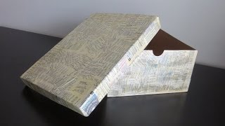 Useless cardboard boxes to storage box - Recycle cardboard boxes