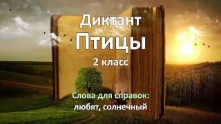 Диктант по русскому языку за 2 класс,  Птицы