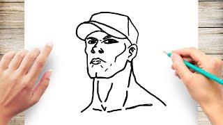 How to Draw John Cena Step by Step