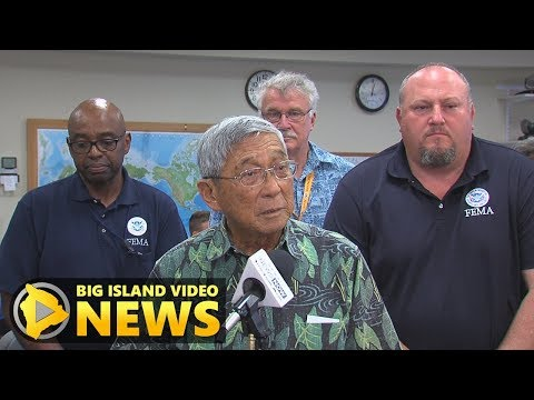 Hawaii County, FEMA Hold Press Conference On Eruption (Jun. 11, 2018)
