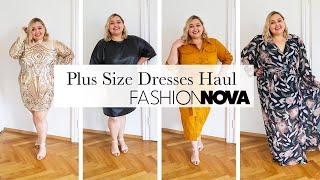 Платья большого размера Fashion Nova Curve Примерка обтягивающих платьев для праздника и на лето