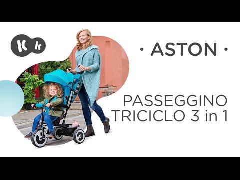 Kinderkraft Triciclo ASTON, Bicicletta, Passeggino con Maniglione, Accessori, per Bambini, 9 Mesi - 5 Anni, Rosa
