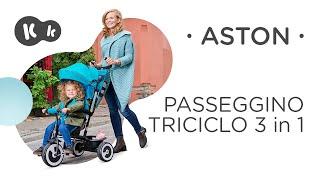 Bicicletta triciclo Kinderkraft ASTON
