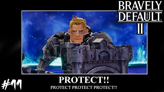 Bravely Default 2 - Boss: Shieldmaster Galahad (Hard Protect Mode)