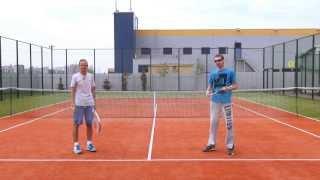 Теннис. Ошибки замаха при ударе справа.