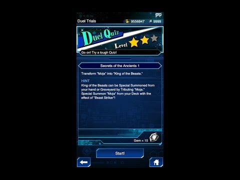 Yugioh Duel Links - Duel Quiz Level 2 : Secrets of The Ancients 1