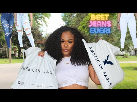 THE BEST JEANS YOU WILL EVER BUY!!! | SIZES: 00-24 | AMERICAN EAGLE TRY-ON HAUL