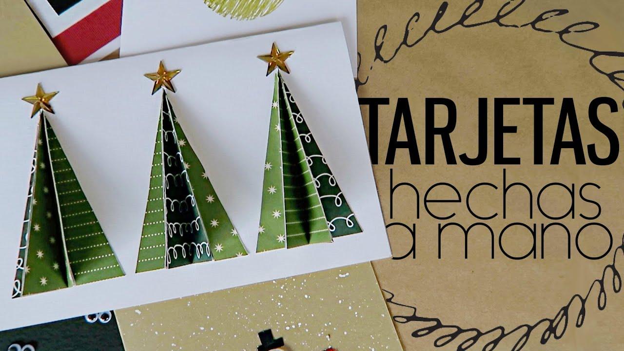 6 tarjetas de navidad hechas a mano mariana clavel youtube - Targetas de navidad originales ...