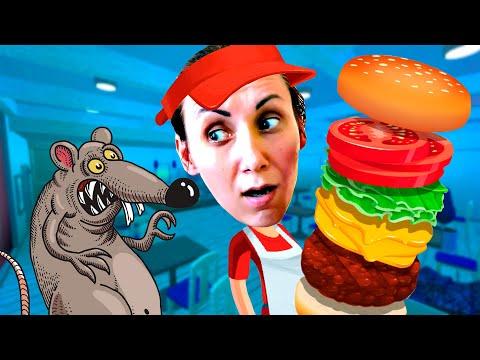Самая Ужасная Бургерная в Роблокс - Мы Играем Cook Burgers Roblox