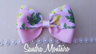 Laço fácil de gorgurão por Sandra Monteiro