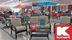 KMART PATIO FURNITURE OUTDOOR HOME DECOR CLEARANCE - SHOP WITH ME SHOPPING STORE WALK THORUGH 4K