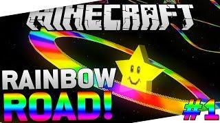 MAIOR MAPA DO RAINBOW ROAD! [1.8] Minecraft #1