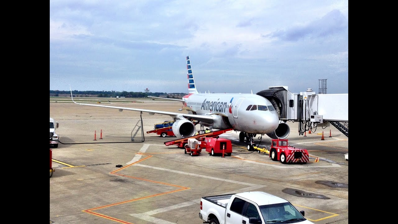 American Airlines Airbus A319 Cleveland To Dallas Fort