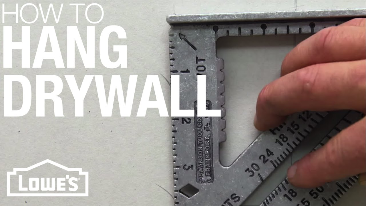 How to Hang Drywall - YouTube