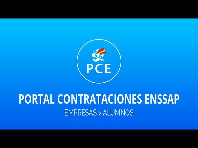 PCE (Portal Contrataciones ENSSAP)