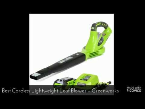Best Cordless Lightweight Leaf Blower – GreenWorks 24252 G Max 40V Leaf Blower Review