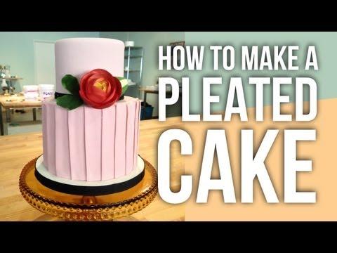 how-to-make-a-fondant-pleated-cake-|-cake-tutorials