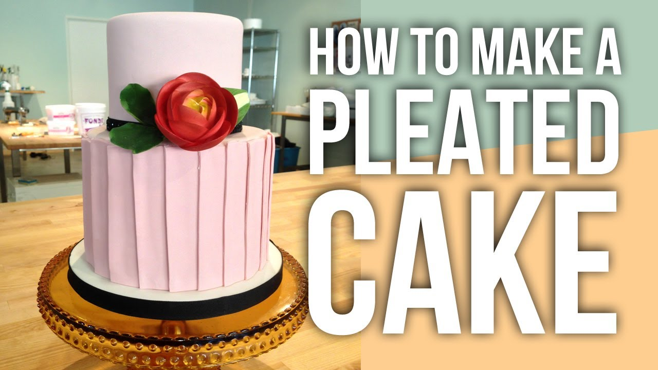 How to Make a Fondant Pleated Cake Cake Tutorials YouTube