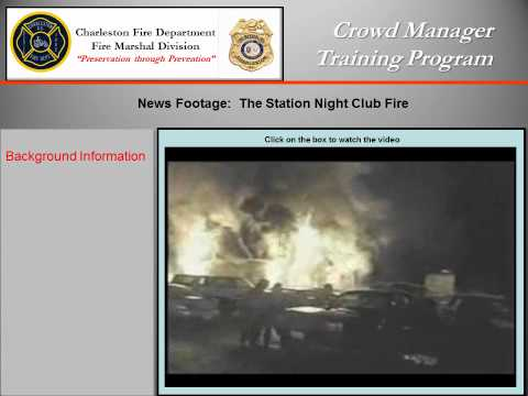 Charleston Fire Marshal - Crowd Manager Training.wmv