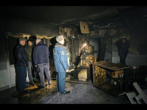 Пожар в детской областной больнице в Архангельске