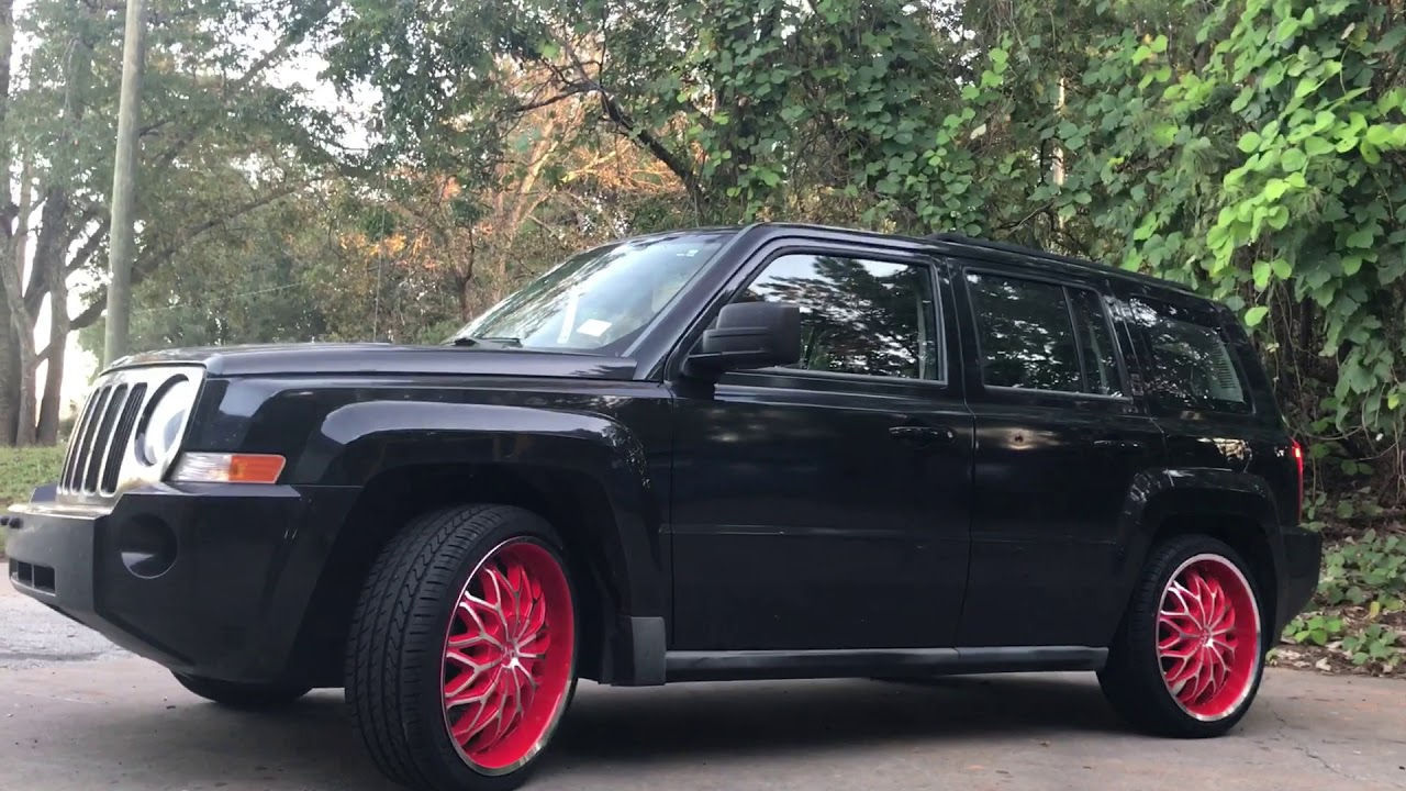 2010 Jeep Patriot Sitting On Red Machine 20 Sik 005 245 40 20