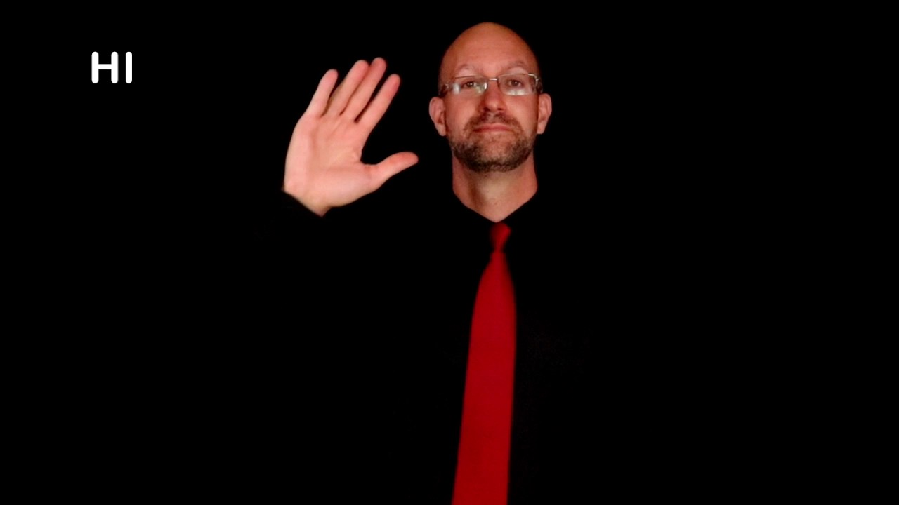 Greetings In Asl Asl American Sign Language Youtube