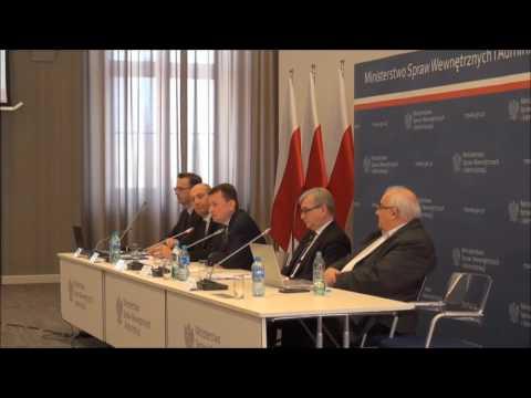 Wypowiedź ministra spraw wewnętrznych i administracji Mariusza Błaszczaka podczas posiedzenia KWRiST