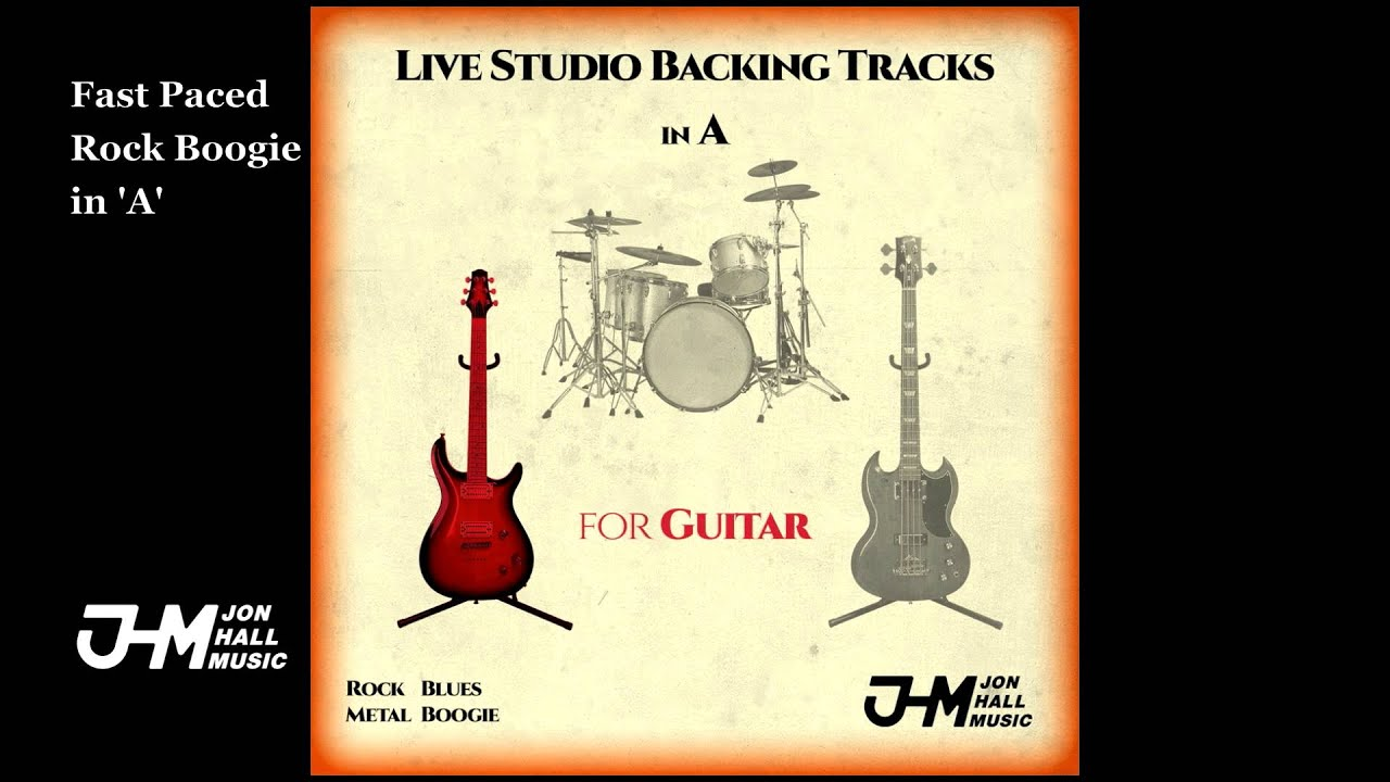 Fast Paced Rock Boogie in 'A' - Guitar Backing Track