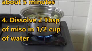 How to cook Miso Soup thumbnail
