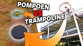 POMPOEN VS TRAMPOLINE! | Boazvb