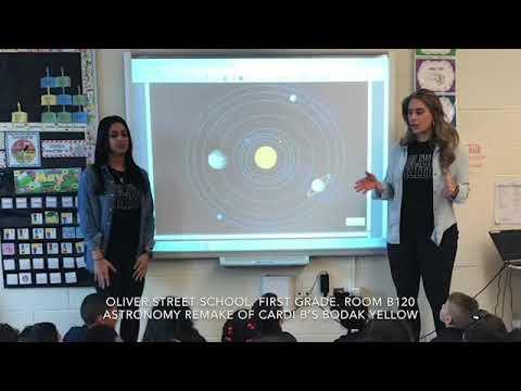 Oliver Street School Room B120 Astronomy Remake of Cardi B's Bodak Yellow