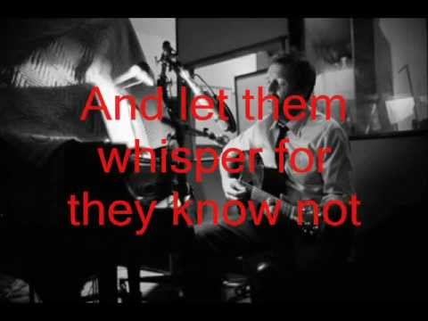 Let them talk - Hugh laurie. Lyrics on the screen.