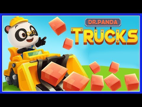 Dr  Panda Trucks Kids Game - Dump Truck, Crane Building Construction Games For Children